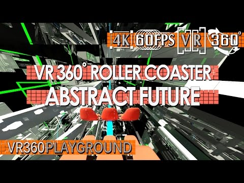 VR 360? Roller Coaster - Abstract Future VR360 Playground