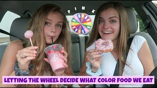 Letting the Wheel Decide What Color Food We Eat for 24 Hours ~ Jacy and Kacy