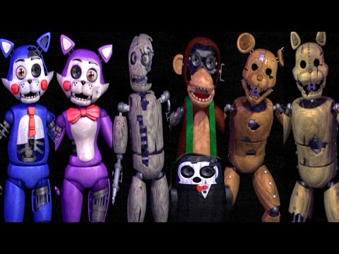 five nights at candy s all animatronics all jumpscares extra