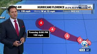 11 a.m. tropical update: Florence now a major hurricane