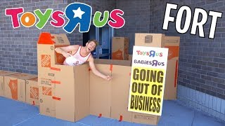 CLOSED TOYS R US BOX FORT!