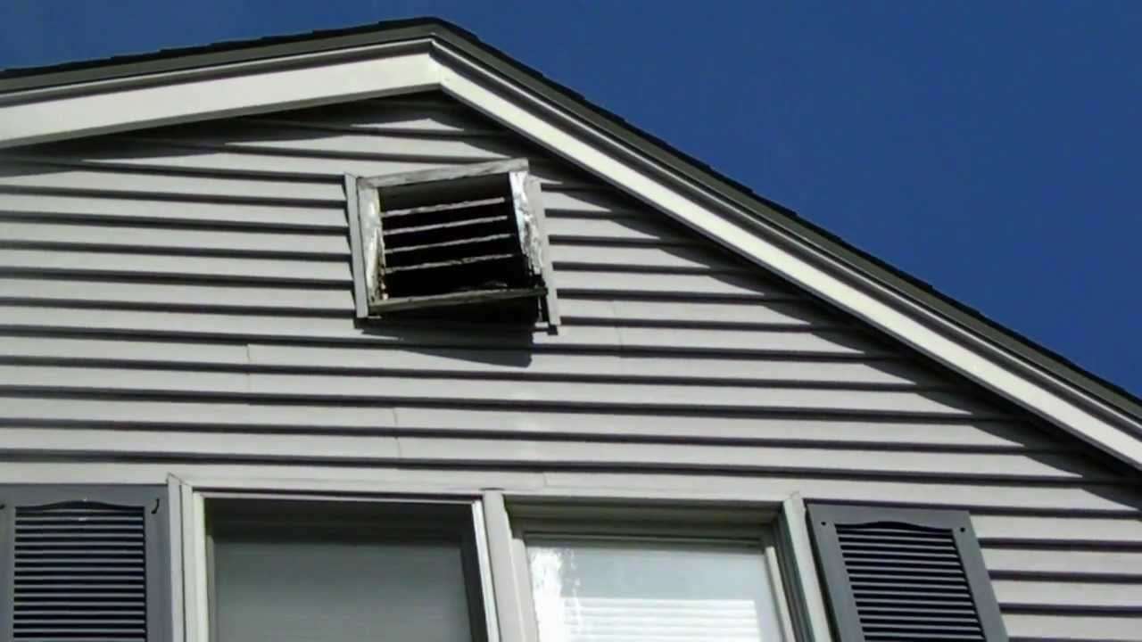 Replacing South Side Attic Vent Youtube