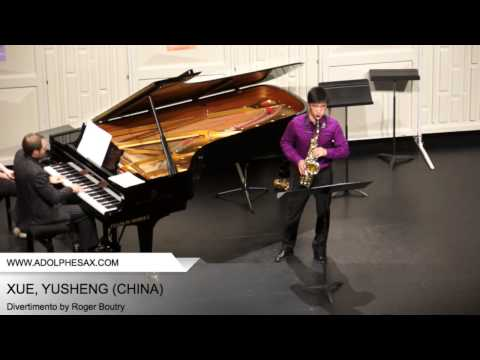 Dinant 2014 - XUE Yusheng (Divertimento by Roger Boutry)