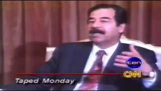مقابلة قناة بي بي سي مع صدام حسين لأول مرة على يوتوب