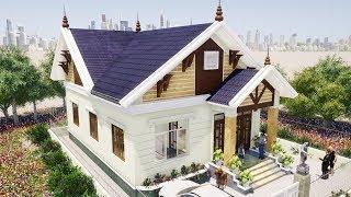 Mẫu Nhà Cấp 4 Đẹp 3 Phòng Ngủ 110m2 Giá 500 Triệu Làm Bằng Revit 2019