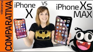 iPhone Xs MAX vs iPhone X -COMPARATIVA y novedades-
