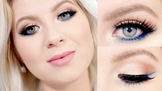 Pop Of Blue Eyeliner Makeup Tutorial | Milabu