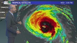 Wednesday night's forecast and tracking Hurricane Florence