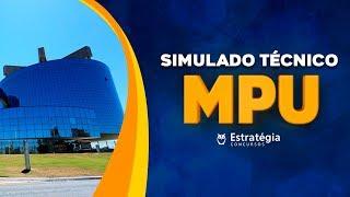 Concurso MPU: Correção do Simulado - Cargo: Técnico