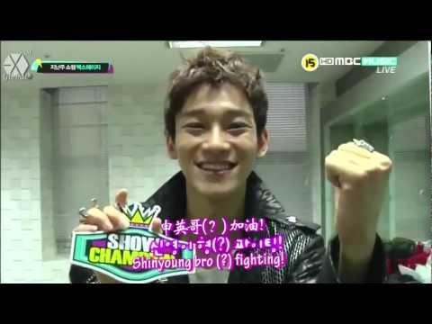 [ENG/中字/HD] 120522 EXO-M Show Champion Backstage CUT 后台花絮