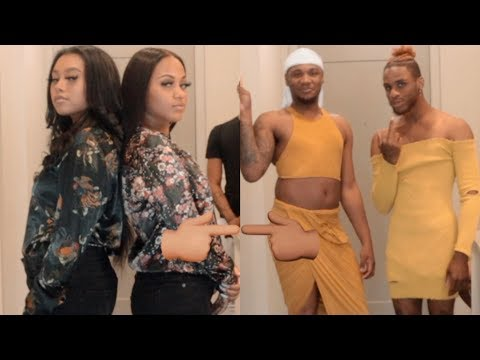 EXTREME CLOTHES SWAP CHALLENGE WITH OUR GIRLFRIENDS AMARI & SENIA!!! (EXTREMELY FUNNY)
