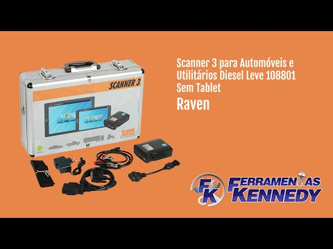 Scanner 3 para Automóveis Diesel Leve e Pesado 108800 Raven - Vídeo explicativo