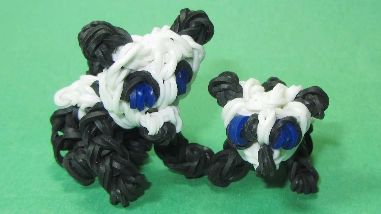 Rainbow Loom Baby Panda Charm Diy Mommy Animals Youtube
