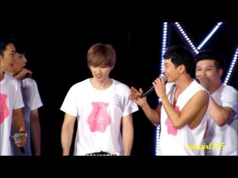 (fancam) 140815 Smtown ending- eunhyuk , leeteuk and donghae