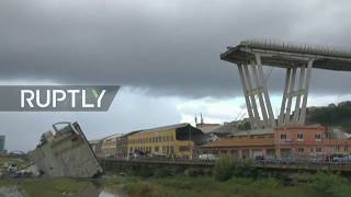 LIVE from Genoa following motorway viaduct collapse