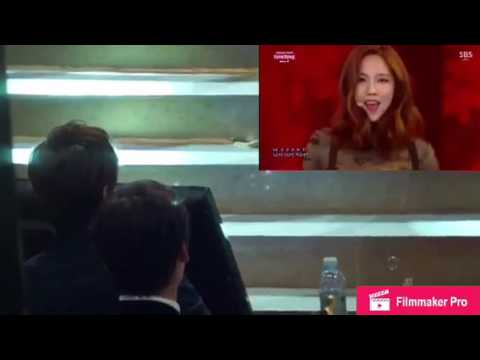 Lee min ho watches Suzy performs [Fake]