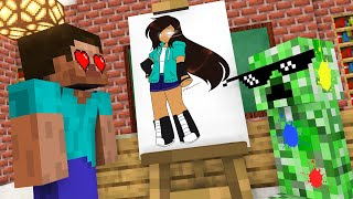 Monster School : DRAWING CHALLENGE ALL EPISODE - Minecraft Animation