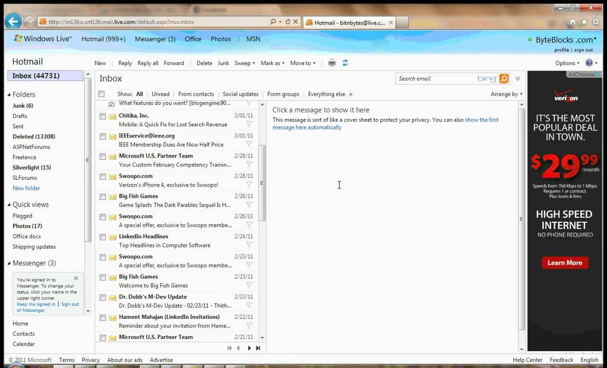 Hotmail Postfach