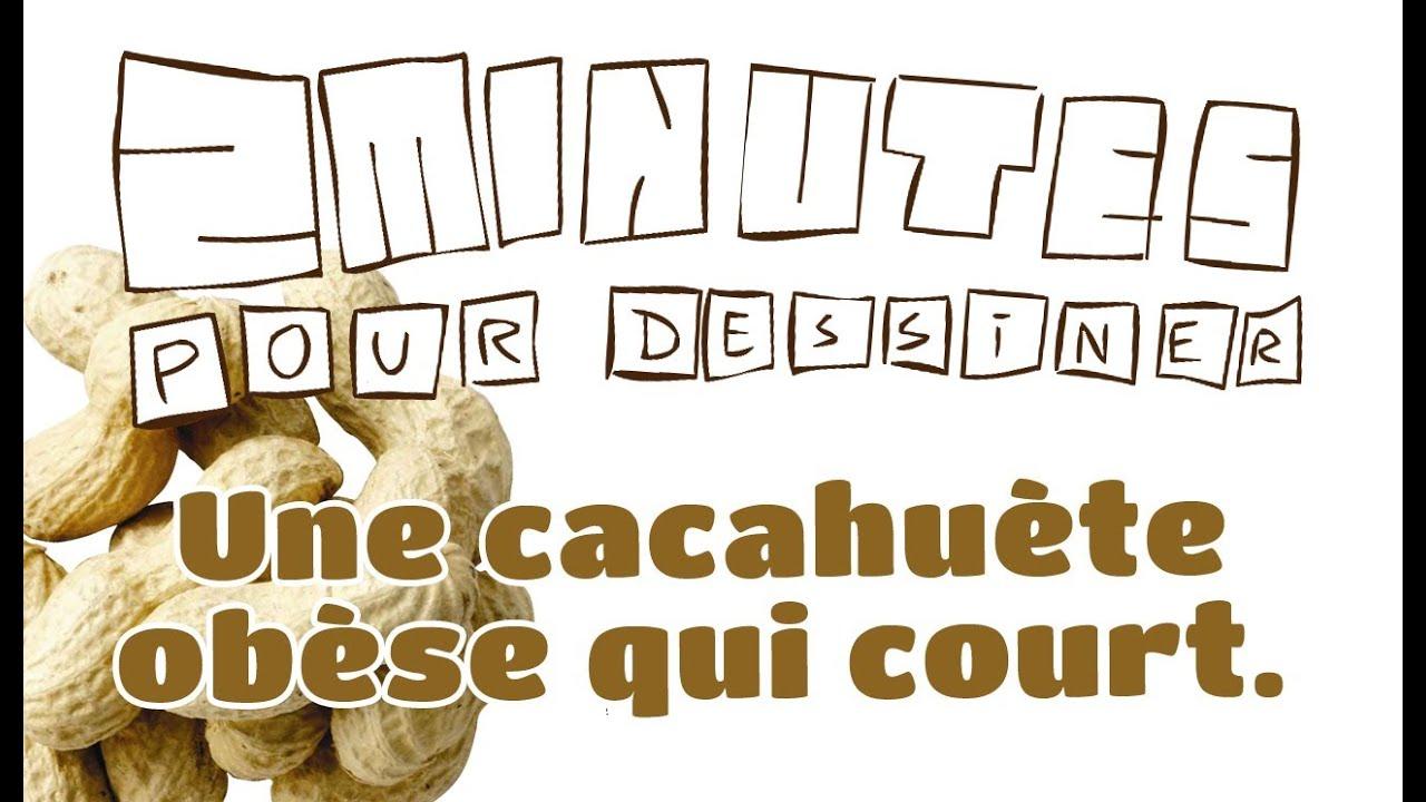 2 minutes pour dessiner une cacahuète obèse qui court