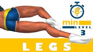 8 dakikada bacak egzersizi - 3. Düzey