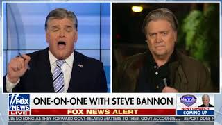 In Sean Hannity Interview, Steve Bannon Rails Against McConnell and Paul Ryan (9/25/17)
