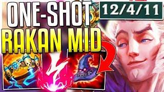 AP RAKAN IS DESTROYING CHALLENGERS MID?! One-Shot Burst OP! Rakan Mid Gameplay - League of Legends