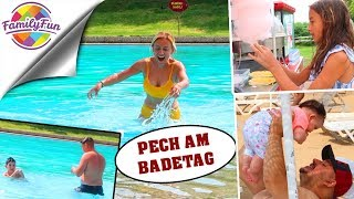 PECH am BADETAG - BADESPAß mit BABY am STRAND - Family Fun