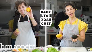David Dobrik Tries to Keep Up with a Professional Chef | Back-to-Back Chef | Bon Appétit