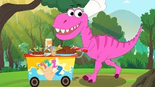 Dinosaurs Finger Family | Trex | Baby Shark | Penguins Nursery Rhymes by FunForKidsTV