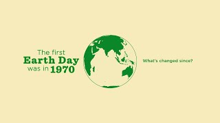 Earth Day 1970 - 2019: No Time To Waste