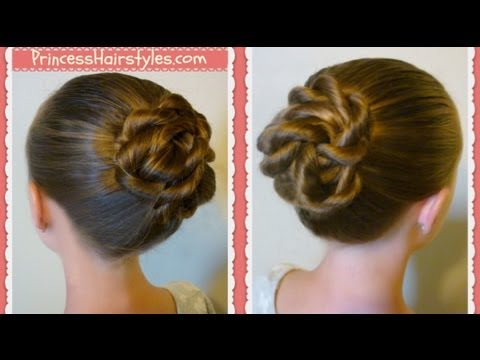 Twisted Knot Bun Back To School Hairstyles For Long Hair