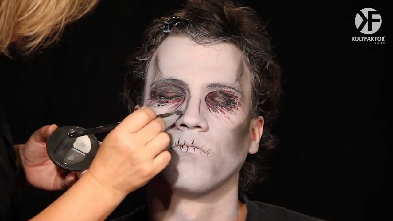 schminken zu halloween zombie make up leicht gemacht by youtube. Black Bedroom Furniture Sets. Home Design Ideas