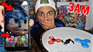 DO NOT SPIN 3 FIDGET SPINNERS WHEN CALLING SONIC THE HEDGEHOG AT 3AM!! *OMG SONIC ACTUALLY ANSWERED*