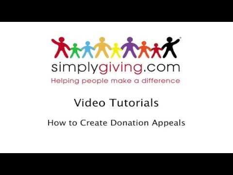VideoTutorial HowtoccreateDonationsAppeals