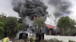 San Diego: Arson House Fire with Man Inside 06052018