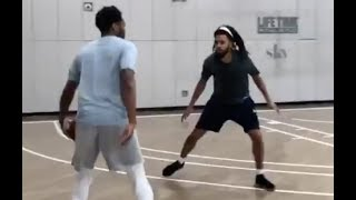 J Cole Plays Against NBA Players Carmelo Anthony, Trae Young, JR Smith, Lance Stevenson