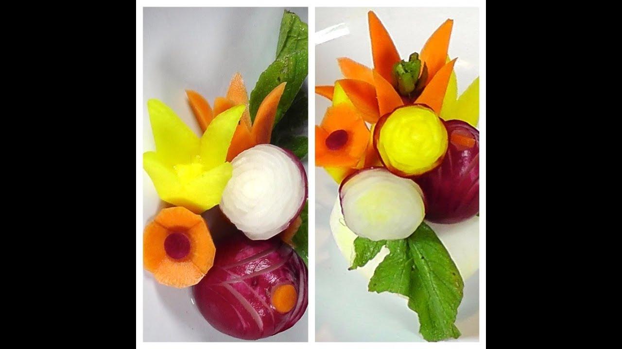 How To Make Vegetable Garnish Food Decoration Plating