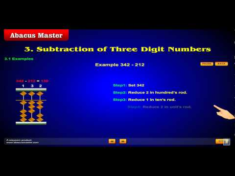 Subtarction on Abacus Example.avi