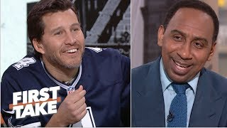 Will Cain breaks out Cowboys jersey to troll Stephen A. after win | First Take