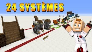 24 SYSTÈMES REDSTONE QUE VOUS DEVEZ CONNAITRE ! Minecraft