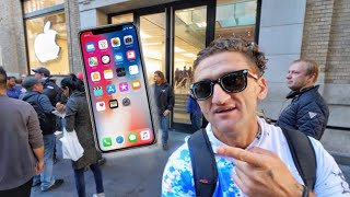 iPhone X - FIRST IN NYC TO GET - slept on the streets for 5 days
