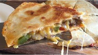 Philly Steak N Cheese Quesadillas