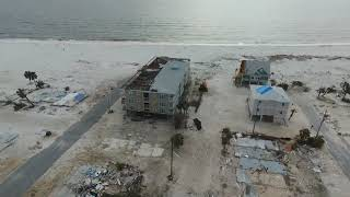 Drone footage of Mexico Beach , FL after hurricane Michael. .