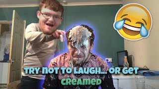 TRY NOT TO LAUGH.... OR GET CREAM ALL OVER YOU