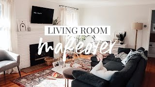 Living Room Makeover • Before Look & Design Plan