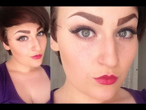 How To Draw, Fill In & Highlight Thick Eyebrows - YouTube