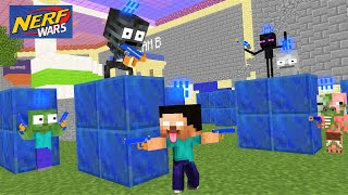 Monster School : Nerf War But Wither Cheated - Funny Minecraft Animation