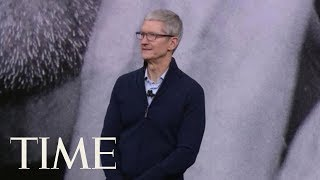Tim Cook Gets Emotional During Tribute To Steve Jobs In The Steve Jobs Theater At Apple Event | TIME