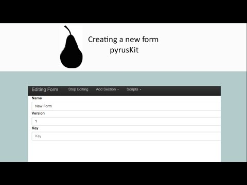 Black Pear Software - pyrusKit: Creating a new form