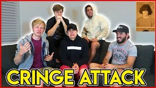 REACTING TO OUR CRINGEY OLD PICTURES w/ ROOMMATES
